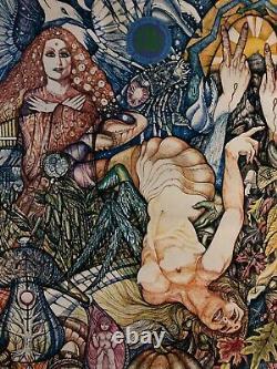 Original Vintage Blacklight Poster Psychedelic Scorpio Astrology Zodiac 1967