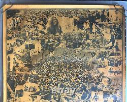 Original Vintage Blacklight Woodstock Poster We Are One 1960s Groovy Hippy 60s