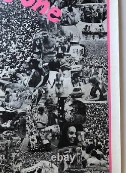 Original Vintage Blacklight Woodstock Poster We Are One 1960s Photo Picture 60s