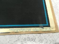 Original Vintage Iron Maiden Velvet Blacklight Poster'Live After Death' 1984