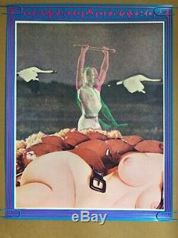 Original Vintage Poster 1967 Joint Show Blacklight Moscoso Psychedelic Pin-up
