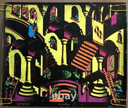 Original Vintage Poster Concave And Convex Black Light Pin Up Psychedelic Trippy