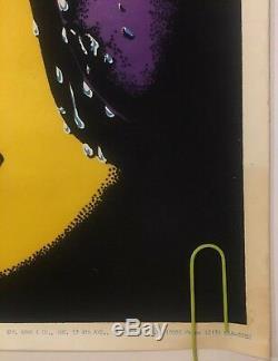 Original Vintage Poster Craving 70s Black Culture Blacklight Pin-up Afro Art