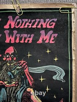 Original Vintage Poster Few Joints won't cure weed blacklight weed marijuana