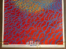 Original Vintage Poster Gates Of Eden Wilfred Satty Black Light Pin Up Art