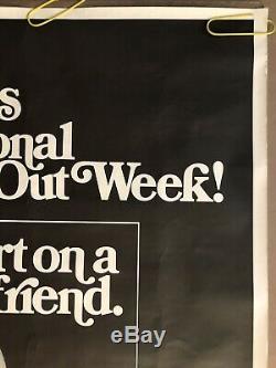 Original Vintage Poster Gross Out National Fart Week Black Light Pin Up 1973