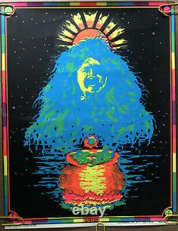 Original Vintage Poster Janis Joplin Blacklight psychedelic music black light