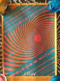 Original Vintage Poster Jim Morrison The Doors 1968 Astro Posters Black Light