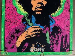 Original Vintage Poster Jimi Hendrix Blacklight Joe Roberts Jr. Psychedelic
