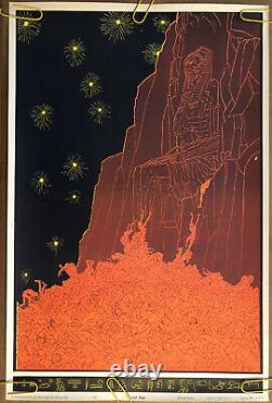 Original Vintage Poster Last Hope Black Light Pin Up Trippy Psychedelic Orange