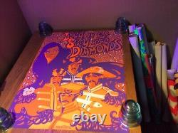 Original Vintage Poster Lucy In The Sky With Diamonds LSD The Beatles rock music