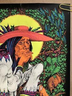 Original Vintage Poster San Mezcalito Rick Griffin Psychedelic Black Light Pinup
