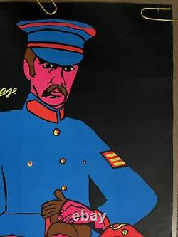 Original Vintage Poster Sgt. Peppers The Beatles Black Light Pin Up Music Promo