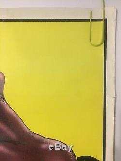 Original Vintage Poster Sunkist Afro Nude Blacklight Pin-up 1976 Black Culture