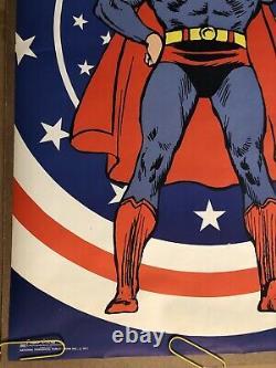 Original Vintage Poster Superman Bullseye USA Black Light Pin Up 1971 Head Shop