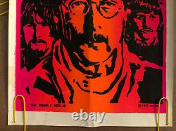 Original Vintage Poster The Beatles Psychedelic Black Light Pin Up Music 1967