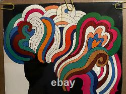 Original Vintage Poster bob dylan Milton glaser poster 60s original music pinup