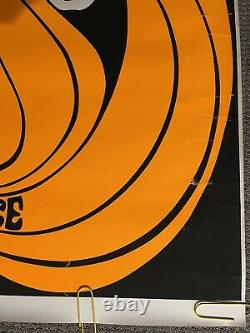 Original Vintage Poster peace woman psychedelic hair Orange Blacklight 1960s