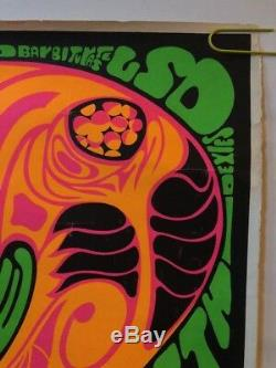 Original vintage Poster drugs Will They Turn You On Or Turn You Off Psychedelic