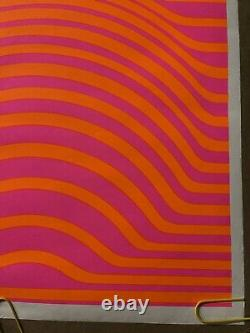 Original vintage poster item 72 psychedelic abstract sphere 1960s Black Light
