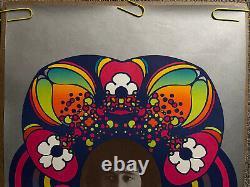 Original vintage poster peter Max Donovan psychedelic 1960s flowers floral