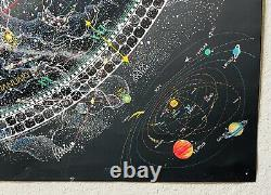 Out Of Print Rare 1981 Map Of Universe Celestial Arts Poster Glow In The Dark