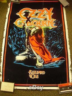 Ozzy Osborne Blizzard of Oz 966 Vintage Blacklight Poster 23 x 35 Original 1984