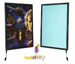 PREMIUM black LED Slim Light-Up Movie Poster light box 1 Frame, 27 x 40 MEDIA