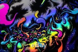 PRIMUS 18x24 black light signed (rainbow foil variant) screenprint show poster