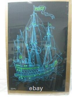 Peace Ship Black Light Vintage Poster 1971 Cng718