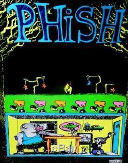 Phish Junta Blacklight Pollock Poster