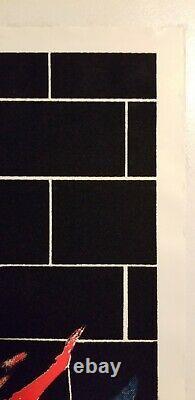 Pink Floyd NEW VINTAGE The Wall Screamin Heads Velvet Flocked Black Light Poster