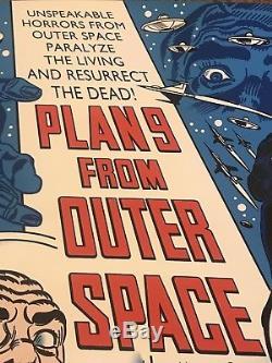 Plan 9 From Outer Space Ed Wood Vampira BlackLight Art Print Poster Mondo Movie