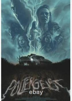 Poltergeist Blacklight Inks Barret Chapman Poster Screen Print Art 24x36 Mondo