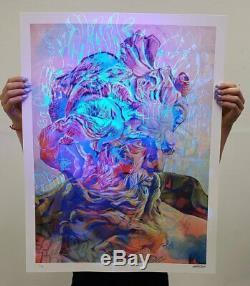 Poseidon Lefkos by PichiAvo SIGNED BLACKLIGHT Ltd x/75 Art Print MINT Poster UV