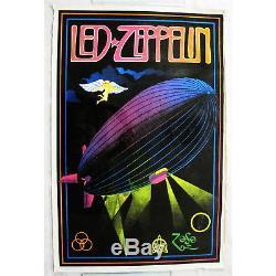 Poster Led Zeppelin Medium Black Light Funky 943 1981 NEW SEALED