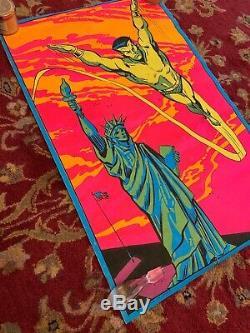 Prince Namor Blacklight Poster Original Third Eye INC The Submariner 1971 Marvel