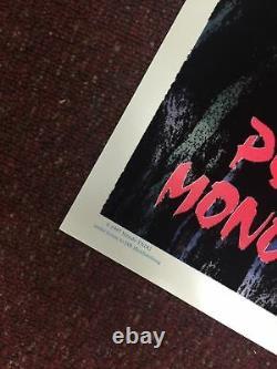 Princess Mononoke Kodama Vintage Poster 1997 Felt Blacklight Anime Rare OOP