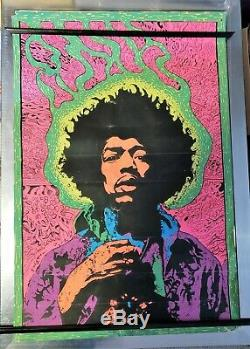 Psychedelic 1967 the experienced black light poster Joe Roberts Jr jimi hendrix