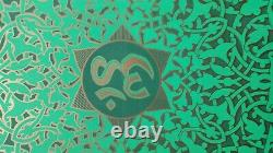 Psychedelic Silk Screen Poster Sirkia Meditation Yoga OM MANDALA Vtg 1967