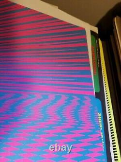 Psychedelic Sunset 1971 71 Vintage Blacklight Nos Poster -nice