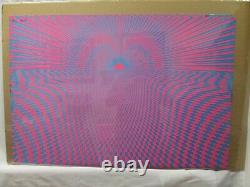 Psycho Sun Black Light Psychedelic Vintage Poster Garage 1970's Cng494
