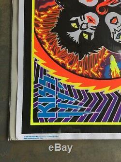 RARE 2014 Kiss Rock Roll Over BLACKLIGHT FELT POSTER 23x35 Aquarius UNUSED