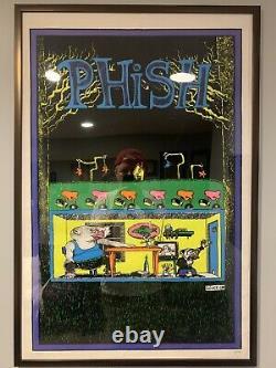 RARE Phish Junta Blacklight Poster Pollock with Frame ORIGINAL