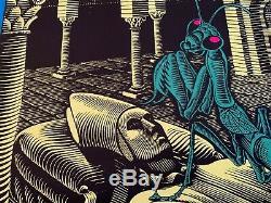 RARE Vintage Blacklight Poster BAD TRIP MC Escher Original Silk Screened NOS