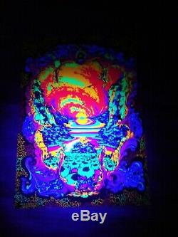 RARE hippy trippy LSD Vintage Psychedelic UV Poster'71 Michael Rhodes FREE SHIP