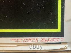 ROCK BAND KISS Black Light Poster Vintage Super Rare black red yellow