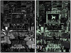 Raid71 (Chris Thornley) Blade Runner Black light Variant Print Poster