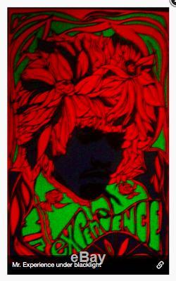 Rare 1967 Jimi Hendrix Blacklight Poster