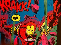 Rare 1971 Marvel Comics IRON MAN Black Light Poster by Third Eye TE4019 NM
